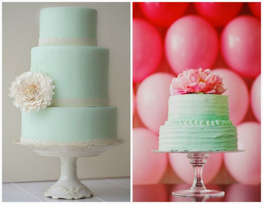 Naked versus painted cake