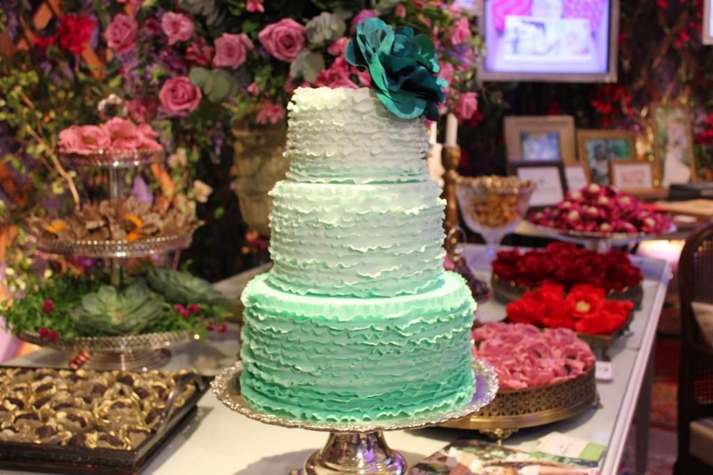 painted cake en feria de novias