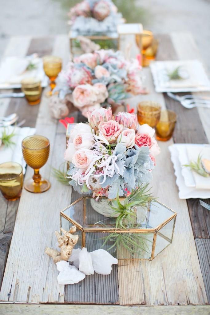 Decoración Matrimonio Rustico : Rosa cuarzo para decoración de matrimonios