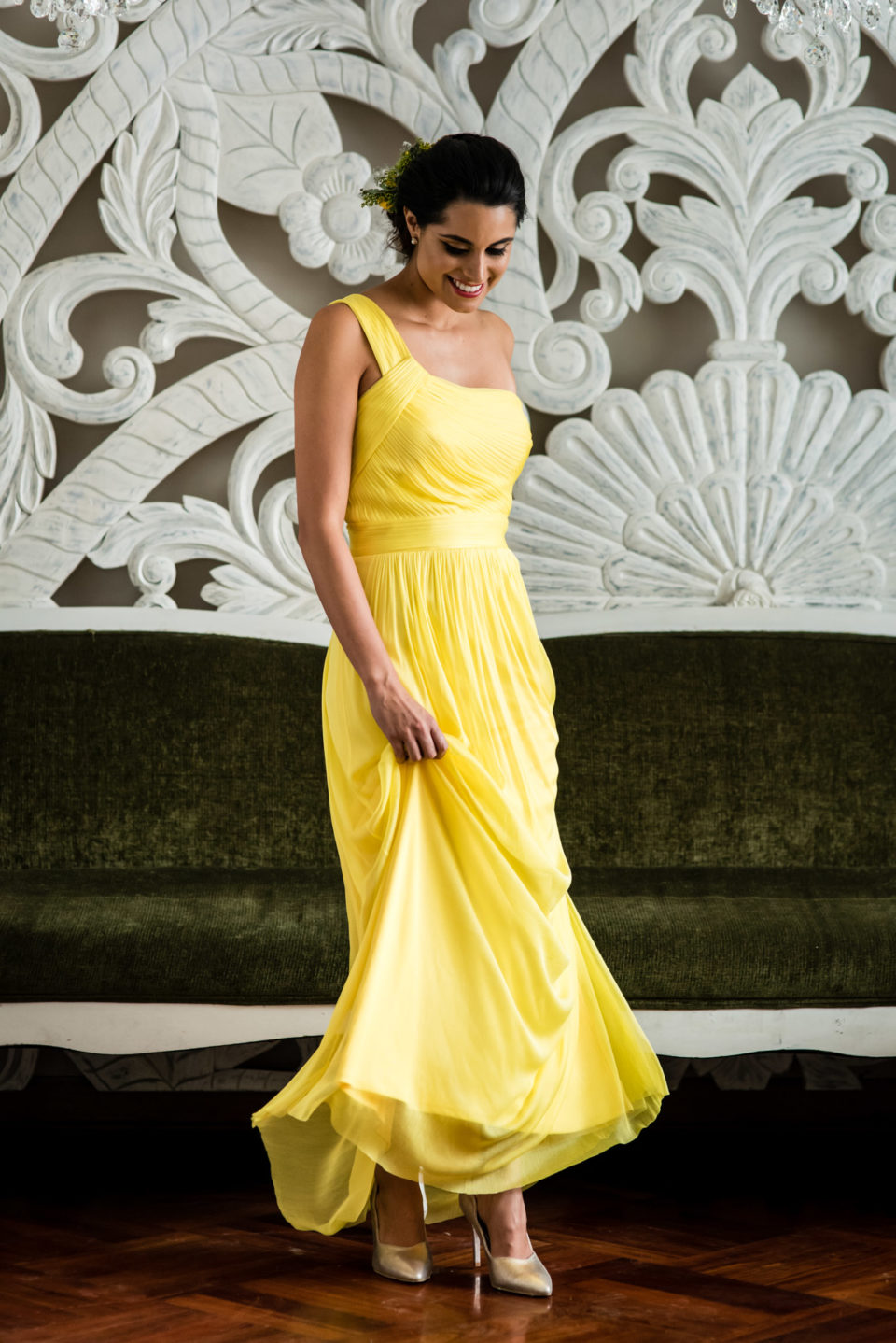 46e6d993cbe Vestido para boda amarillo - Vestidos verdes