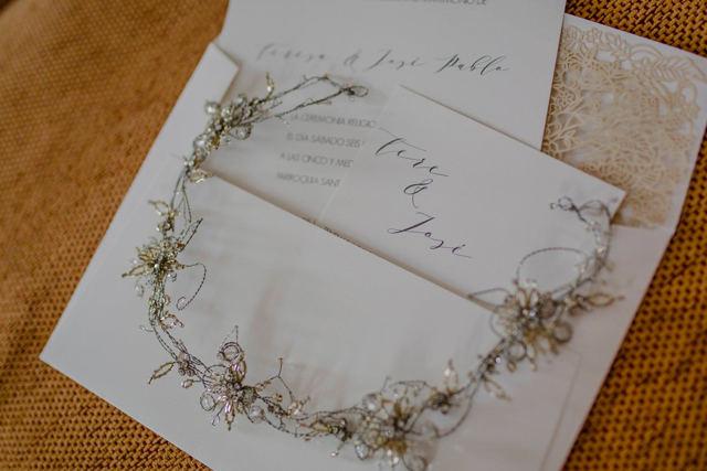 invitacion clasica de matrimonio