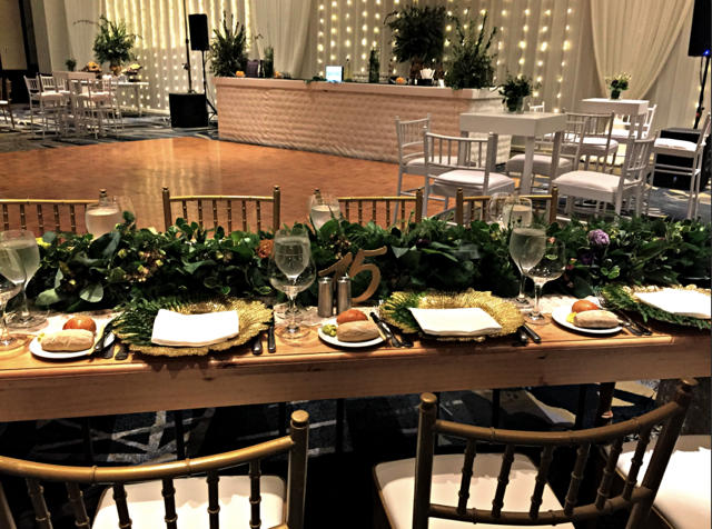 Decoración del salón - Matrimonio en el Marriott