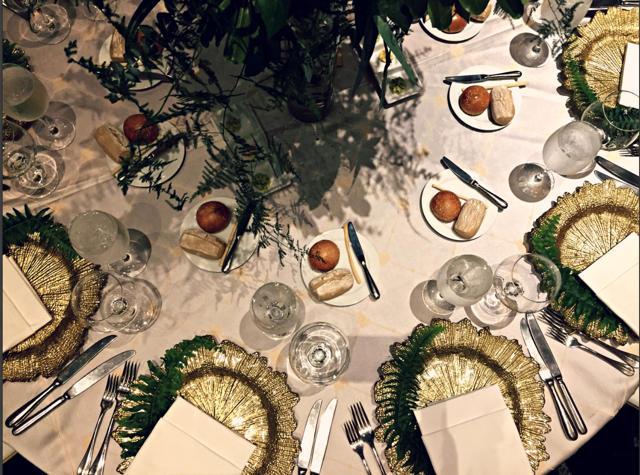 Decoración de las mesas - Matrimonio en el Marriott