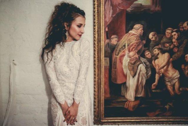 sesión de fotos de la novia