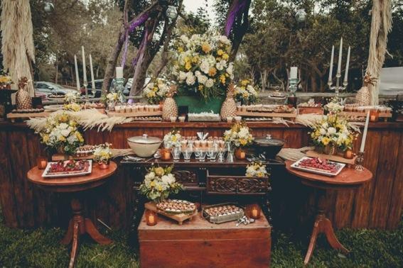 boda mavi mesa dulce