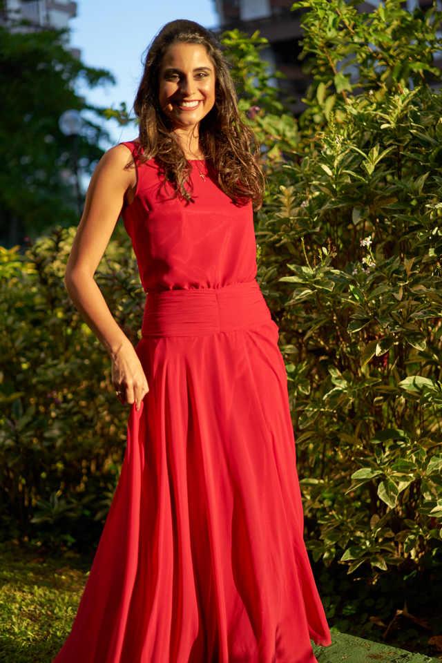 Vestido Rojo Ideal Para Ir A Un Matrimonio De Día Y De Noche