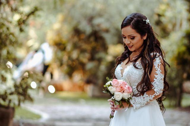 la novia en sesión de fotos