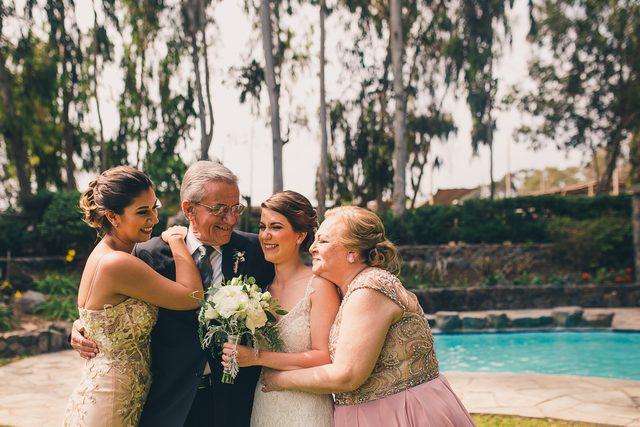 la novia y su familia