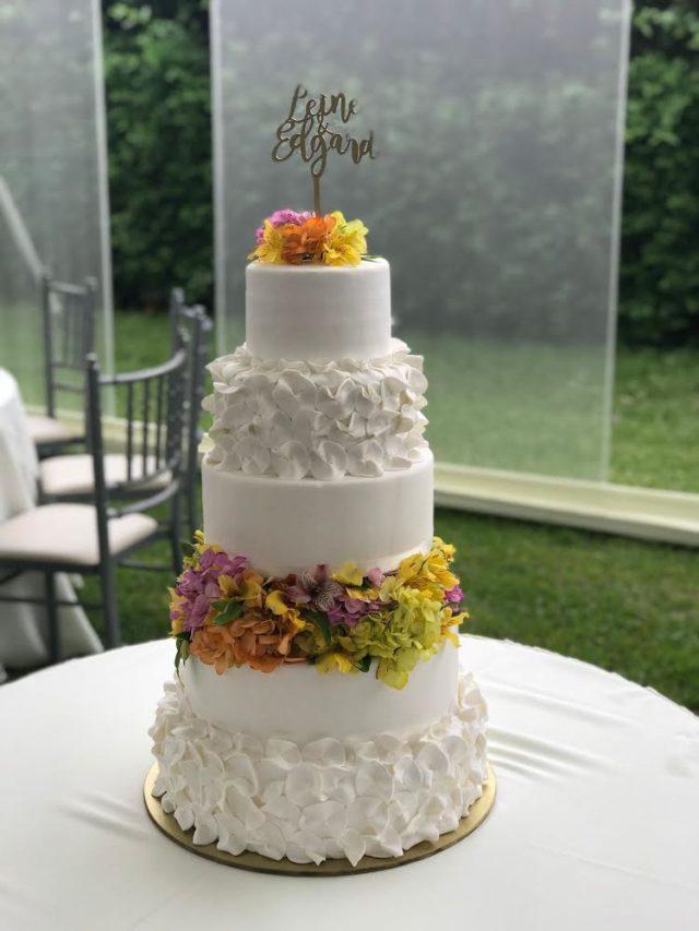 torta de matrimonio con fondant