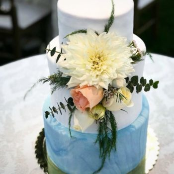 torta de matrimonio pintada a mano