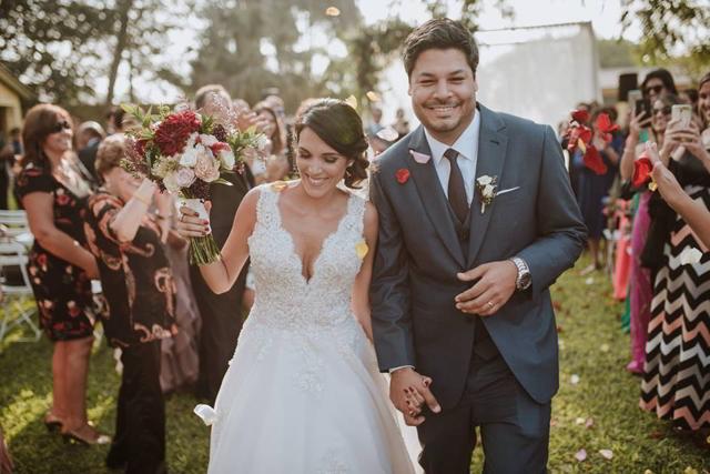 novios después de la boda
