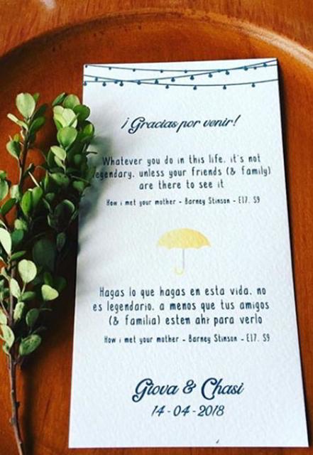 mensajes de agradecimiento de los novios