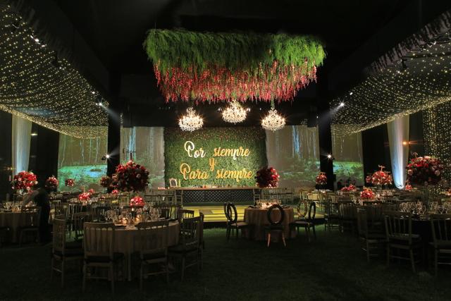 decoración de local de bodas