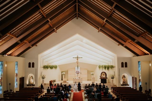 foto panorámica de la iglesia