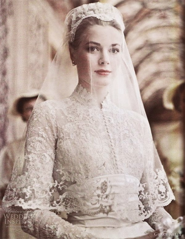 grace kelly de novia el día de su matrimonio