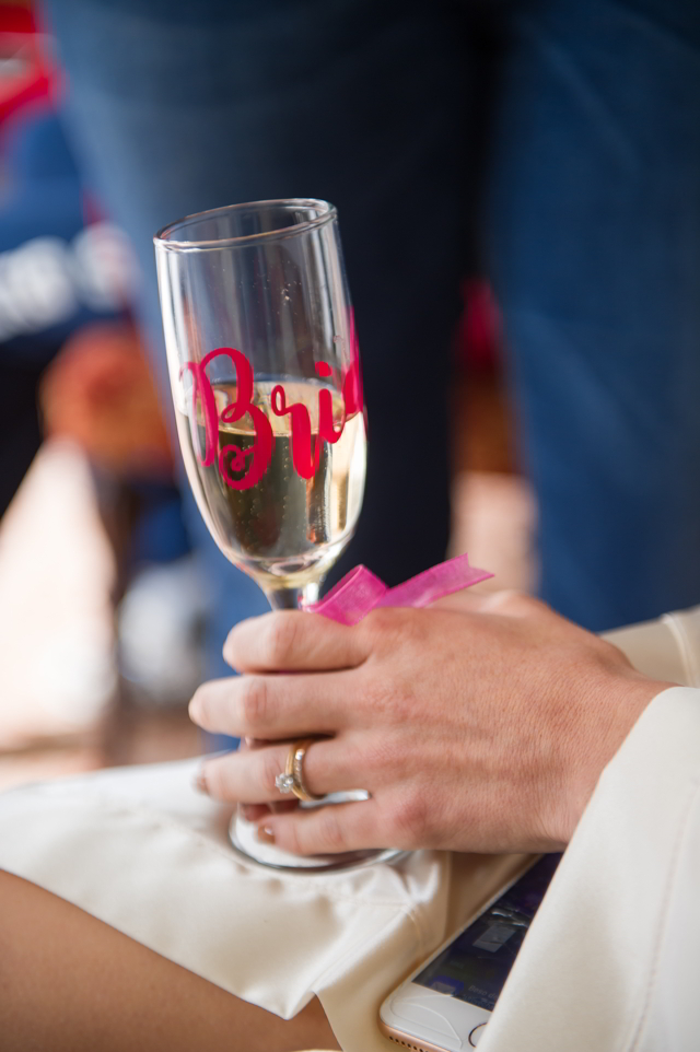 copa de champagne personalizada para la novia