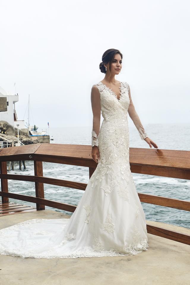 vestido de novia de la nueva colección de luna blanco atelier lima