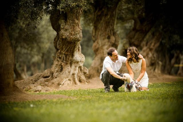 Sesión pre-boda en el jardín
