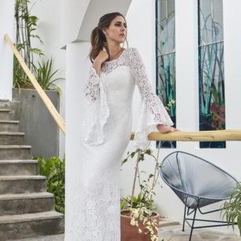 Vestido de novia estilo bohemio chic