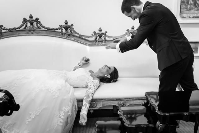 Novios, en sesión de fotos post-boda