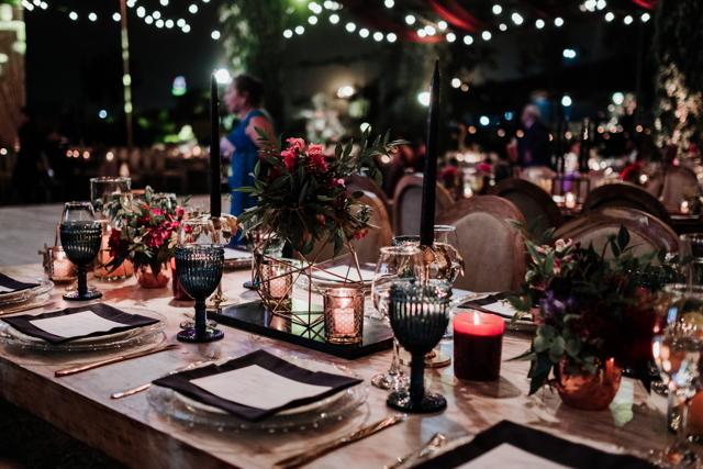 Decoracion de la mesa de bodas