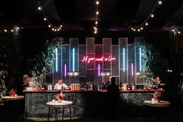 Bar en la fiesta de bodas