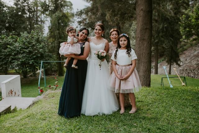 novia con su familia