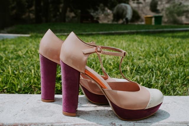 Zapatos de novia en tonos nude