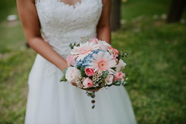 bouquet en tonos pastel