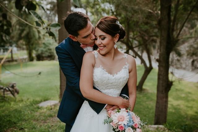 Los novios antes de la boda