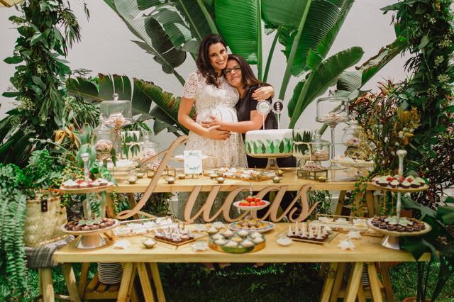 María Pía y Andrea de Festinare en el Baby Shower de Lucas