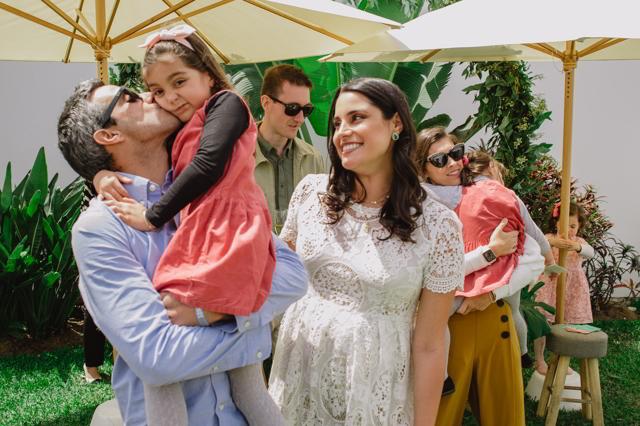 María Pía y sus invitados en el Baby shower de Lucas