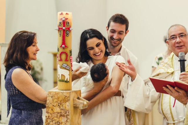 Lucas recién bautizado